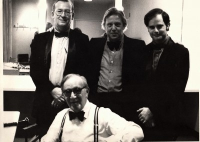 Nashville Symphony Clarinet Section with Benny Goodman, circa late 1970's Dan Hearn, Steve Sefsik, Ron
